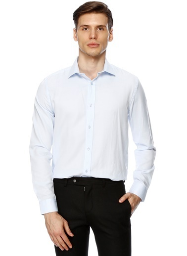 Cotton Bar Slim Fit Gömlek Mavi